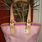 Authentic Coach Pink White Hampton Tote Handbag