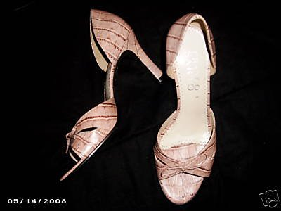 FRANCO SARTO PINK CROC SHOES 8 M