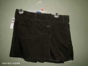 NEW Old Navy Short Corduroy Skirt Size 2