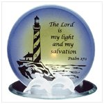 Glass Psalm Candleholder