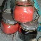Country rustic Mandarin Apricot candle handmade
