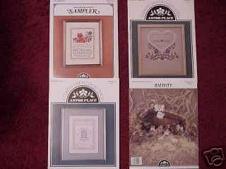 A 4 Pak Selection of Assorted Cross Stitch Patterns ~f