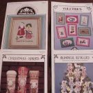 A 4-Pak Assortment of Cross Stitch Patterns ~l