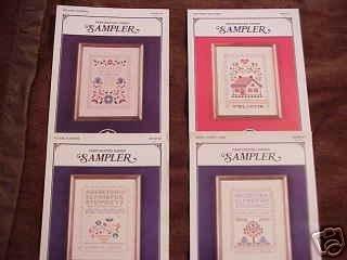 A 4 Pak of SAMPLER Cross Stitch Patterns ~d