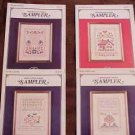 A 4 Pak of SAMPLER Cross Stitch Patterns ~d