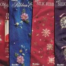 4 New Embroidery Ribbon Iron on Patterns ~Bucilla ~g