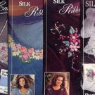 4 New Ribbon EMBROIDERY Iron on Patterns by Bucilla ~c