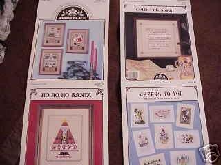 A 4-Pak Assortment of Cross Stitch Patterns ~k