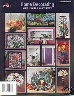 Gallery Glass Home Decorating w/Stain Glass Inlay 14 Pr