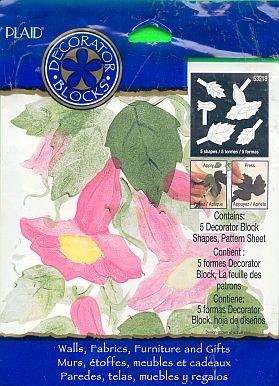Plaids LIPSTICK FLOWER Stencil Stamp new in unopened package