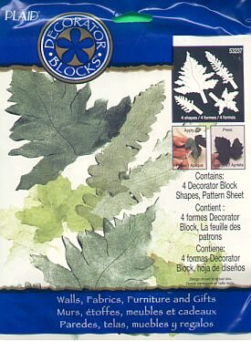 Plaids IVY LEAF  FERN Stencil Stamp new in package