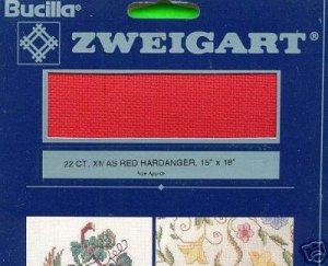 """Bucilla 22 ct. XMAS RED HARDANGER 15"""" X 18"""" Fabric"""