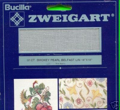 Bucilla 32 ct. SMOKEY PEARL BELFAST Linen Fabric