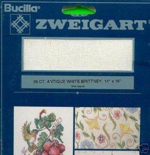 "Bucilla 28 ct. ANTIQUE WHITE BRITTNEY 14"" X 18"" Fabric"
