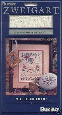 Bucilla 20ct Gold/Cream Valerie Cross Stitch Fabric