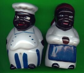 Aunt Jemima & Chef in Blue S & P shakers
