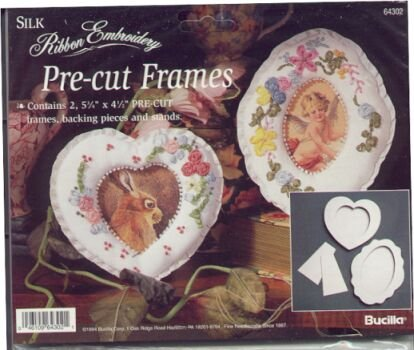 Hearts and Oval Frames for Silk Ribbon Embroidery by Bucilla