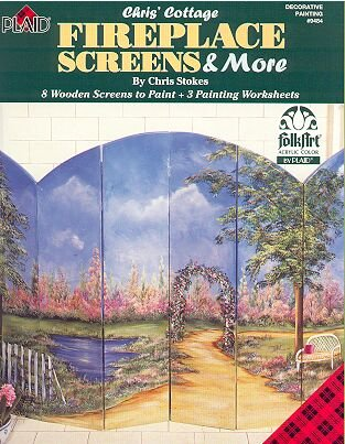 FIREPLACE SCREENS ~ Patterns & Painting Guide Booklet by Plaid