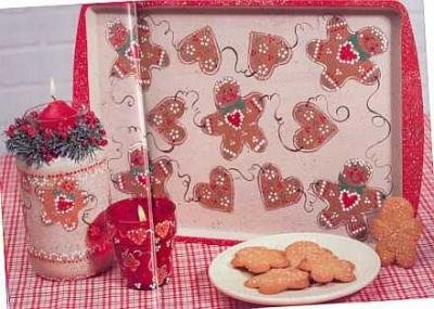 Ditys & Daisies Learn to Paint~Gingerbread Man Tray