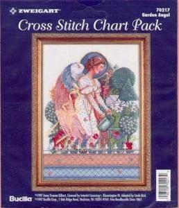 Magnificent Garden Angel~Cross Stitch Chart