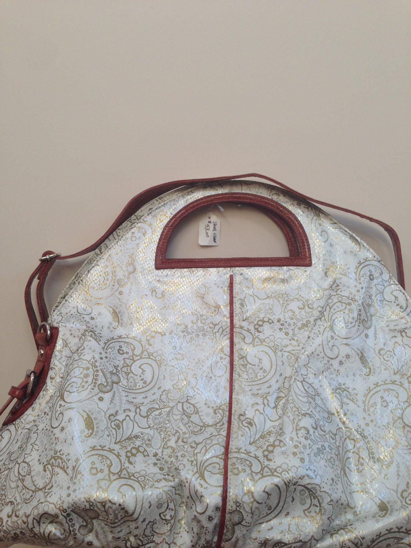 Trendy Kim Faux Leather Handbag with Shoulder Strap