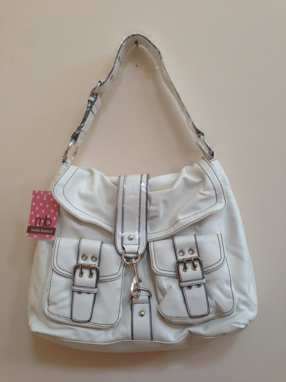 Melie Bianco White Shoulder Bag