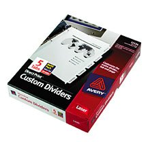 Avery Custom Dividers for B&W Printing 24/5-Tab 3-Hole Punched