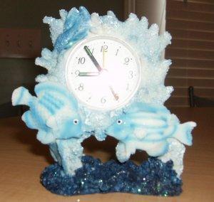 Ashley Belle Tropical Fish Alarm Quartz Clock