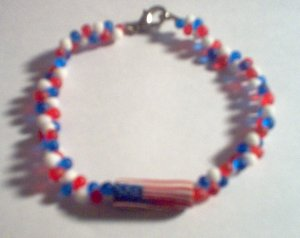Red White & Blue USA Flag Bracelet