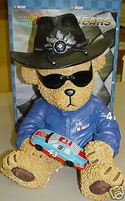 Richard Petty Nascar Resin Bear