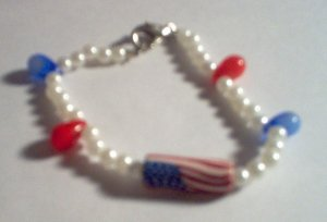 Patriotic Pearl Bracelet - Child Size