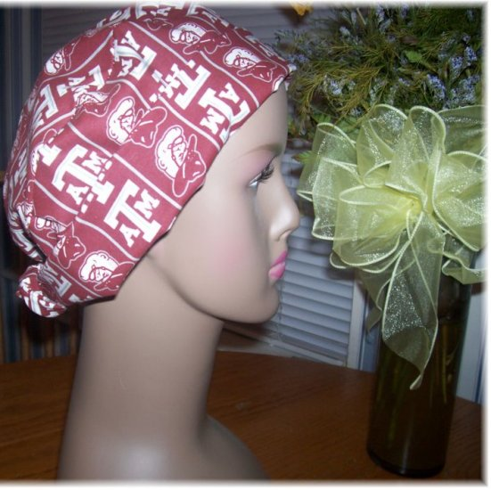 Surgical Caps - Texas A & M Fabric