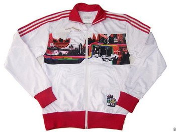 Adidas Jacket - White (Red NY)
