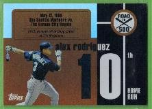 2007 Topps Baseball Road to 500 Alex Rodriguez (Mariners) #ARHR10