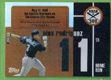 2007 Topps Baseball Road to 500 Alex Rodriguez (Mariners) #ARHR11