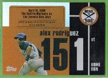 2007 Topps Baseball Road to 500 Alex Rodriguez (Mariners) #ARHR151