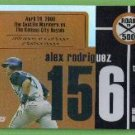 2007 Topps Baseball Road to 500 Alex Rodriguez (Mariners) #ARHR156