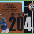 2007 Topps Baseball Road to 500 Alex Rodriguez (Rangers) #ARHR204