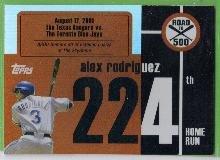 2007 Topps Baseball Road to 500 Alex Rodriguez (Rangers) #ARHR224