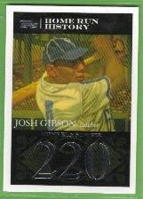 2007 Topps Baseball Homerun History Josh Gibson (Crawfords) HR220 #JG30