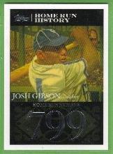 2007 Topps Baseball Homerun History Josh Gibson (Crawfords) HR799 #JG108