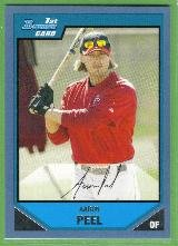 2007 Bowman Prospects Baseball Blue Border Aaron Peel (Angels) #BP103 (#'d 302/500)