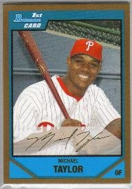 2007 Bowman Draft Picks & Prospects Gold Michael Taylor (Phillies) #BDPP37