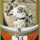 2007 Topps Baseball The Streak Before the Streak Joe DiMaggio (Seals) JDSF24