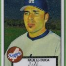 2007 Topps 52 Rookie Edition Chrome Debut Flashbacks Paul LoDuca (Dodgers) #DFC7 (#'d 0148/1952)