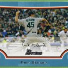 2009 Bowman Baseball Blue Erik Bedard (Marines) #43 (#'d 130/500)