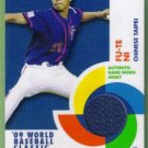 2009 Topps Baseball 09 World Baseball Classic Game Used Jersey Fu Te Ni (Chinese Taipei) #BCR-FTN