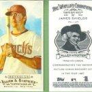2009 Topps Allen & Ginter Baseball Mini A&G Back James Shields (Rays) #287