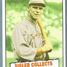 2010 Topps Heritage Baseball Thrills George Sisler Collects 257 Hits #402