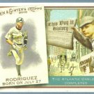 2010 Topps Allen & Ginter Baseball This Day in History Alex Rodriguez (Yankees) #TDH50